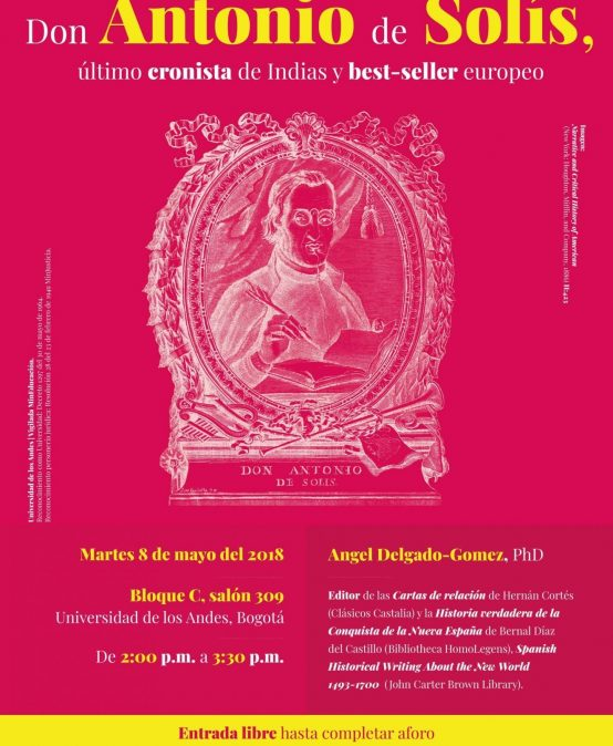 Conferencia: Don Antonio de Solís, último cronista de Indias y best-seller europeo