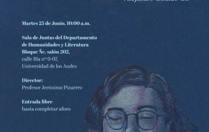 Zeta ese zeta – Una traducción y unas notas sobre Z/S de Adília Lopes – Sustentación de tesis de maestría de Alejandro Giraldo Gil