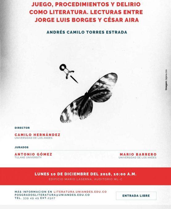 Sustentación de tesis doctoral en Literatura de Camilo Torres