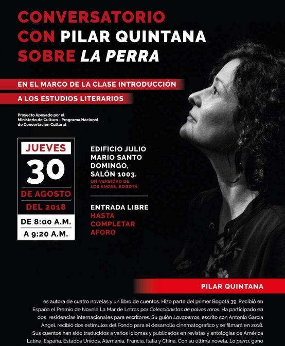 Conversatorio con Pilar Quintana sobre «La perra»