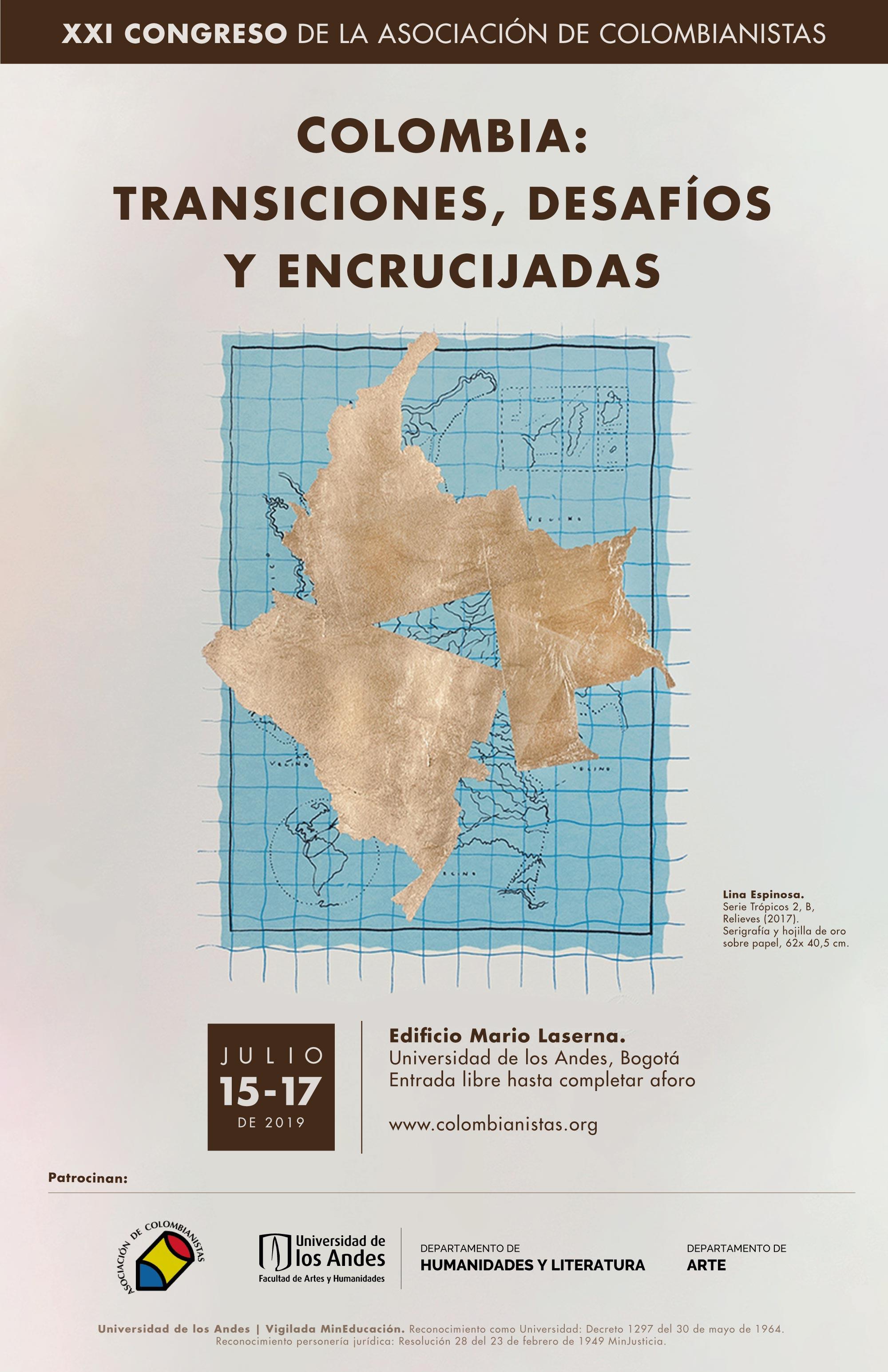 """XXI Congreso de la Asociación de Colombianistas """"Transiciones, desafíos y encrucijadas"""""""