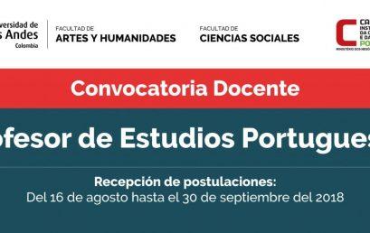 Manifestação de interesse professor de estudos portugueses – Universidade de los Andes (Colômbia)