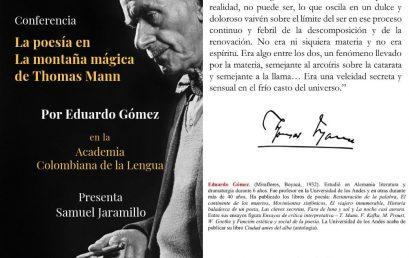 Conferencia: La poesía en «La montaña mágica» de Thomas Mann