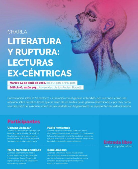 Charla: Literatura y ruptura: lecturas ex-céntricas