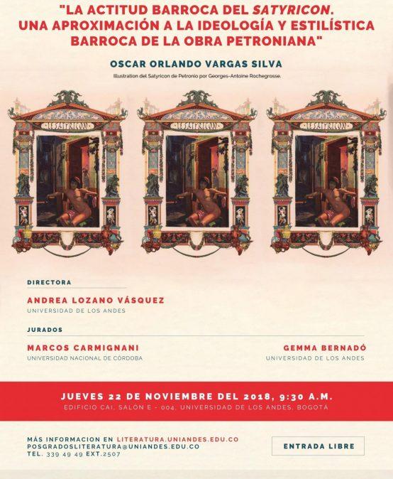 Sustentacion de tesis doctoral en Literatura de Oscar Orlando Vargas Silva