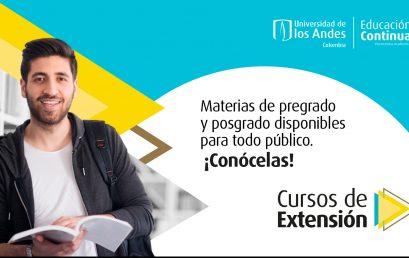 Cursos de extensión   Viva la experiencia Uniandina