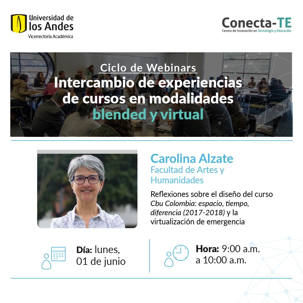 Webianars Intercambio de experiencias de cursos en modalidades blended y virtual.