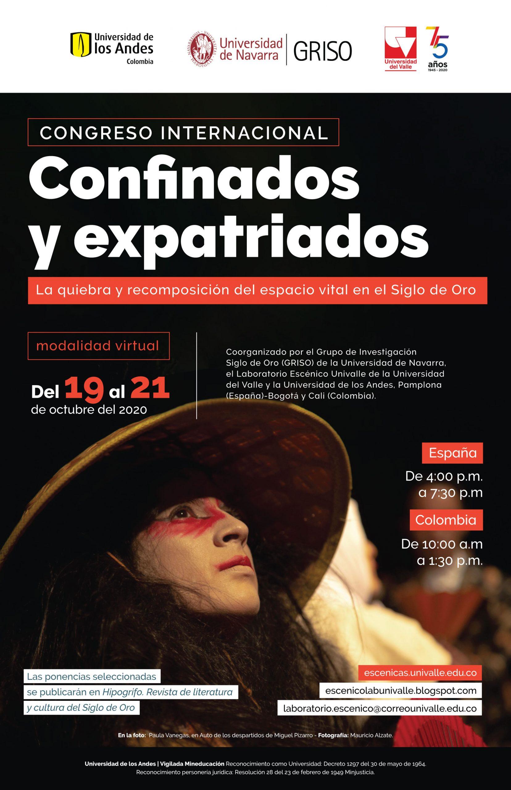 Congreso internacional: Confinados y expatriados