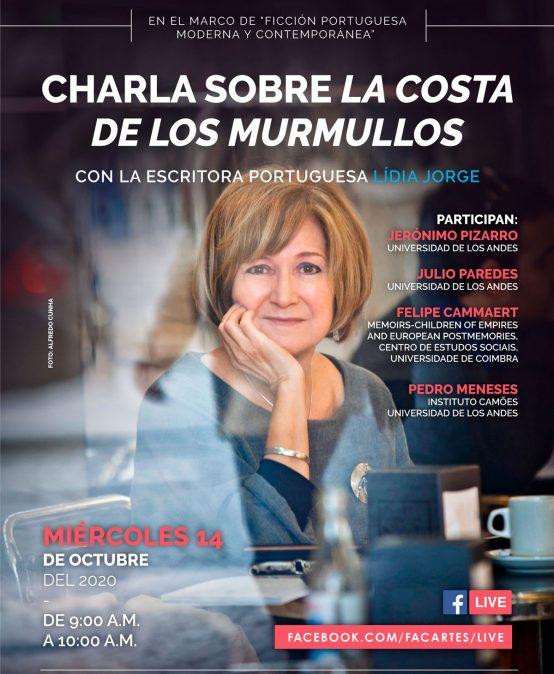 """Charla sobre """"La costa de los murmullos"""" con la escritora portuguesa Lídia Jorge"""