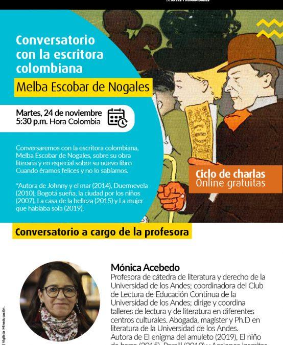 Conversatorio con la escritora colombiana Melba Escobar de Nogales