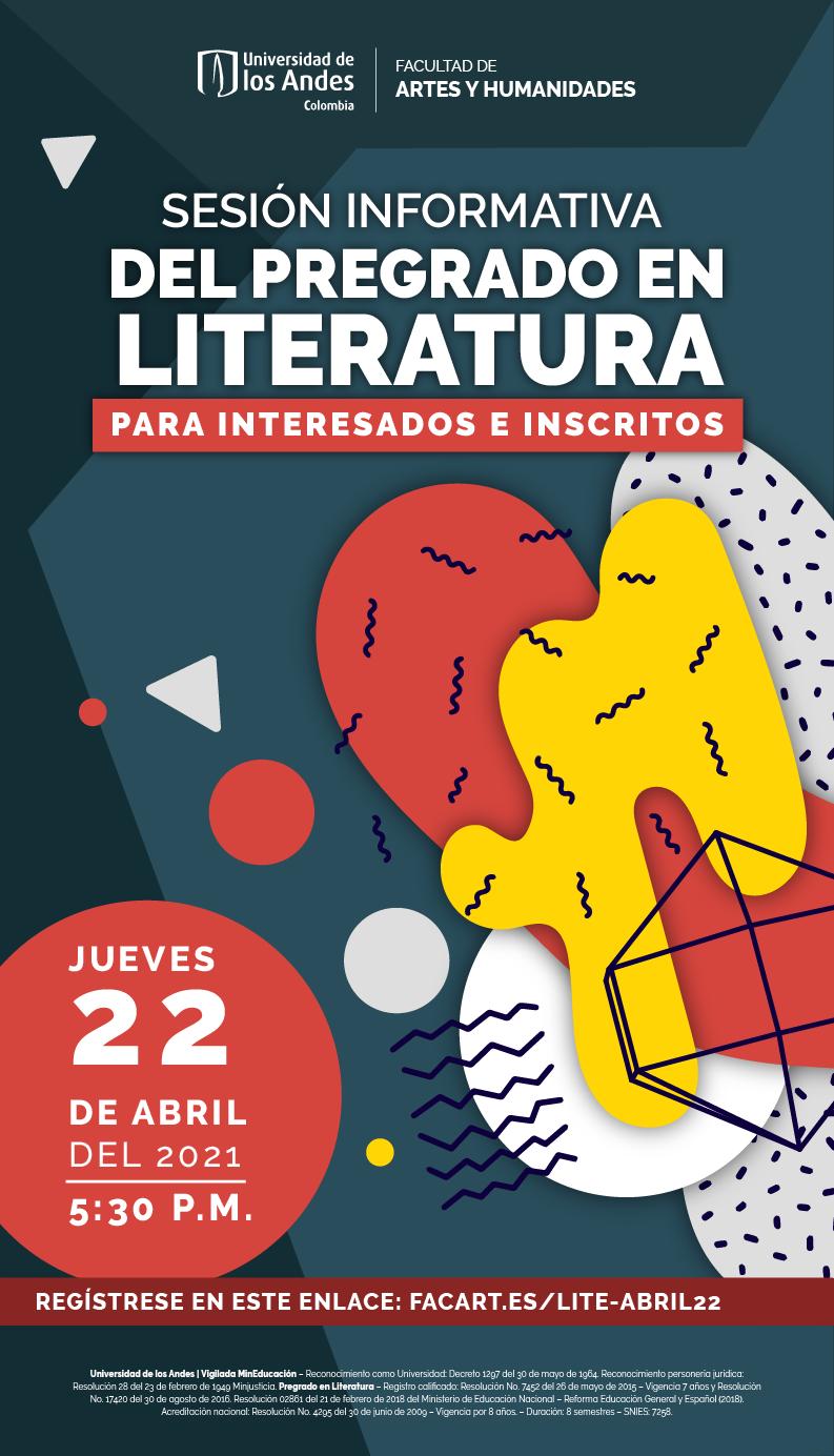 Sesión informativa del pregrado en Literatura