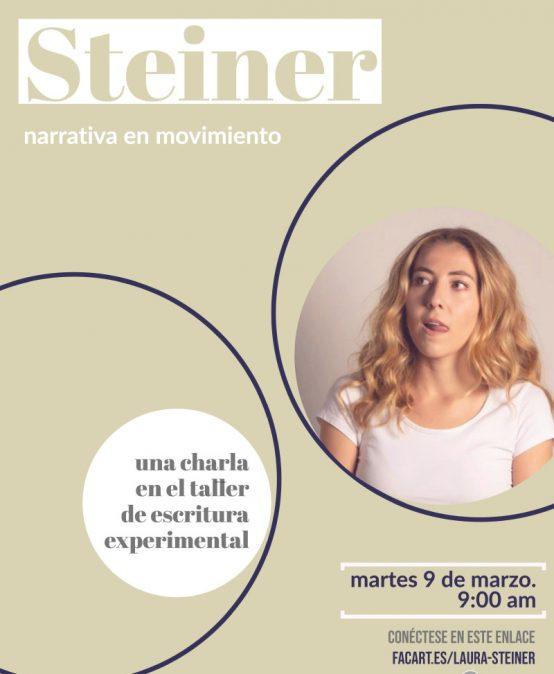 Charla abierta con Laura Steiner: Narrativa en movimiento