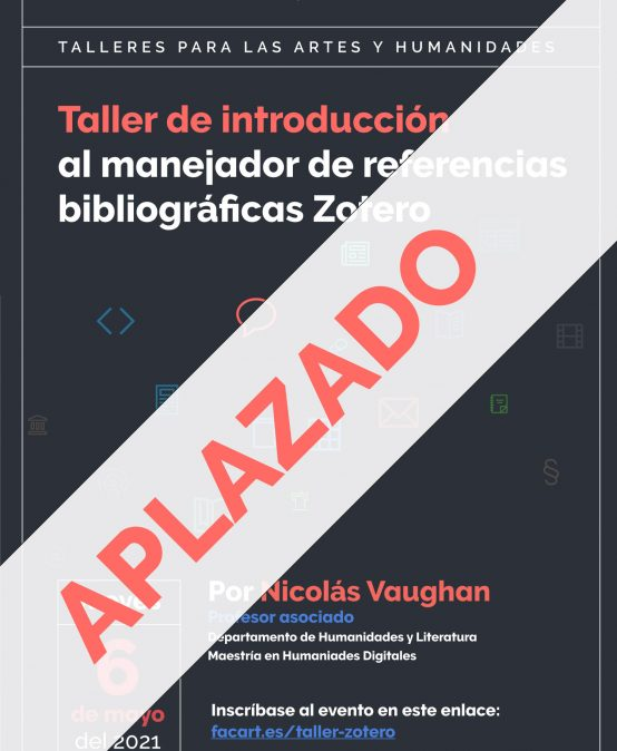 Taller de introducción al manejador de referencias bibliográficas Zotero