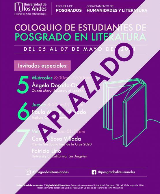 Coloquio de estudiantes de Posgrado en Literatura