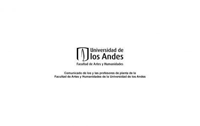 Comunicado de los y las profesores de planta de la Facultad de Artes y Humanidades